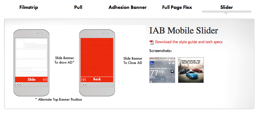 IAB Mobile Slider