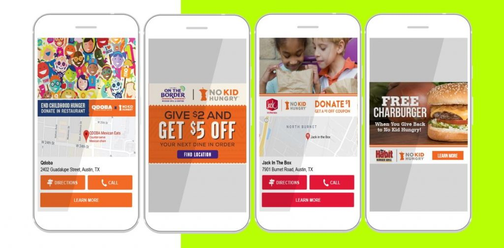 No Kid Hungry Location-Based Marketing Examples